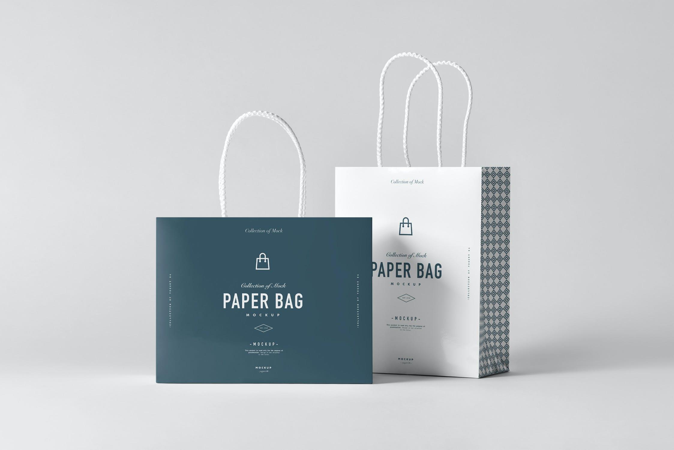 11款购物手提纸袋设计展示样机模板 Paper Bag Mockup 2插图(10)