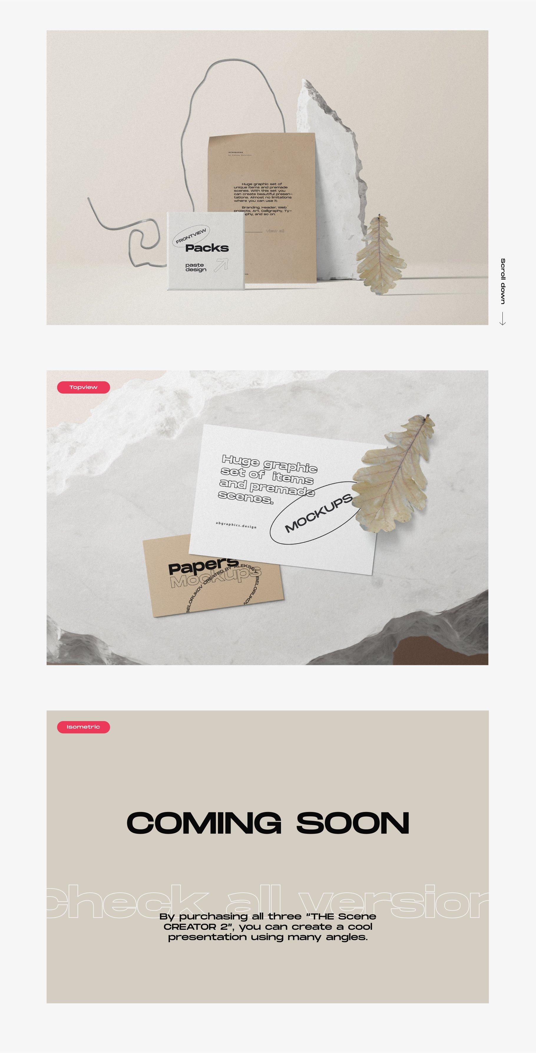 [淘宝购买] 超大品牌VI包装设计PS智能贴图样机模板素材 The Scene Creator 2 / Frontview插图(10)
