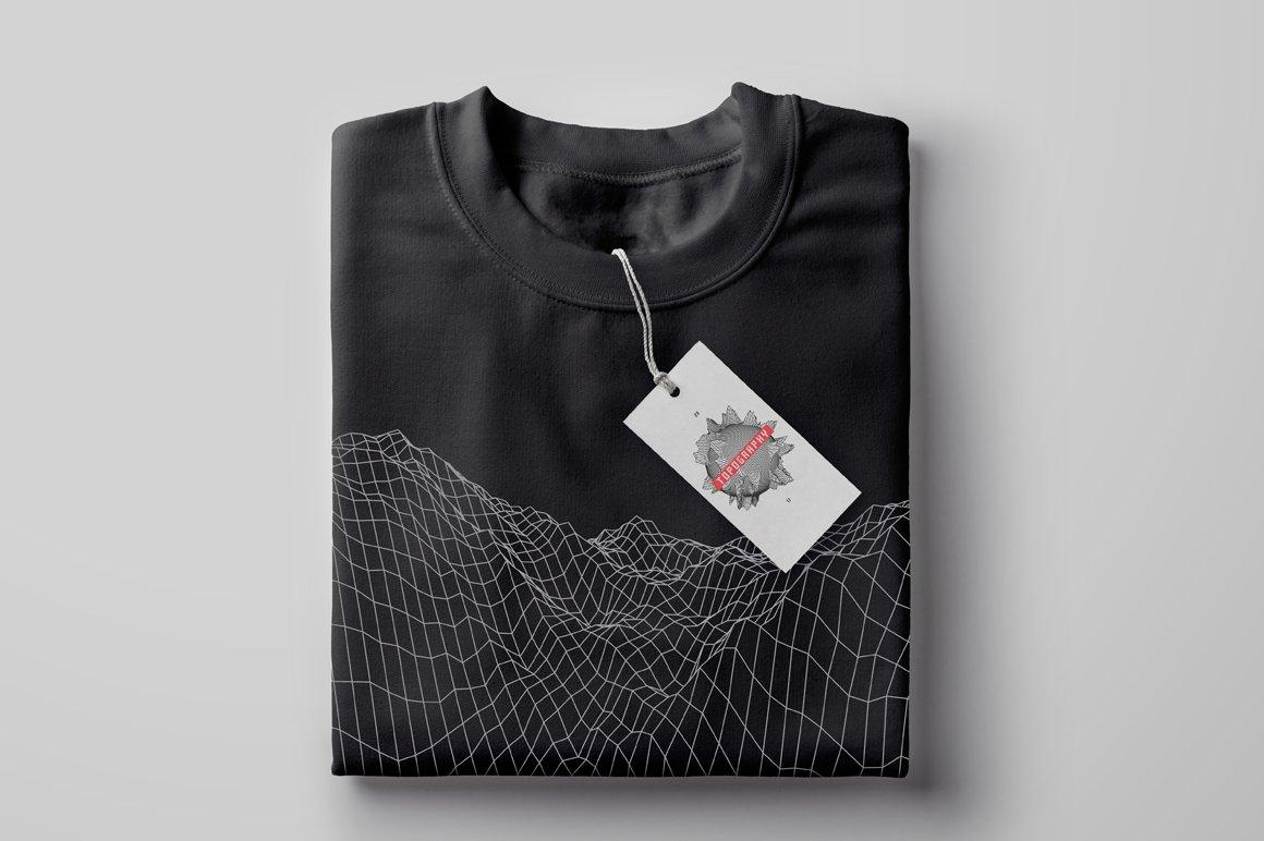 40款80年代复古未来美学矢量网格纹理山水插图设计素材 Retro Inspired Grid Landscapes插图(10)