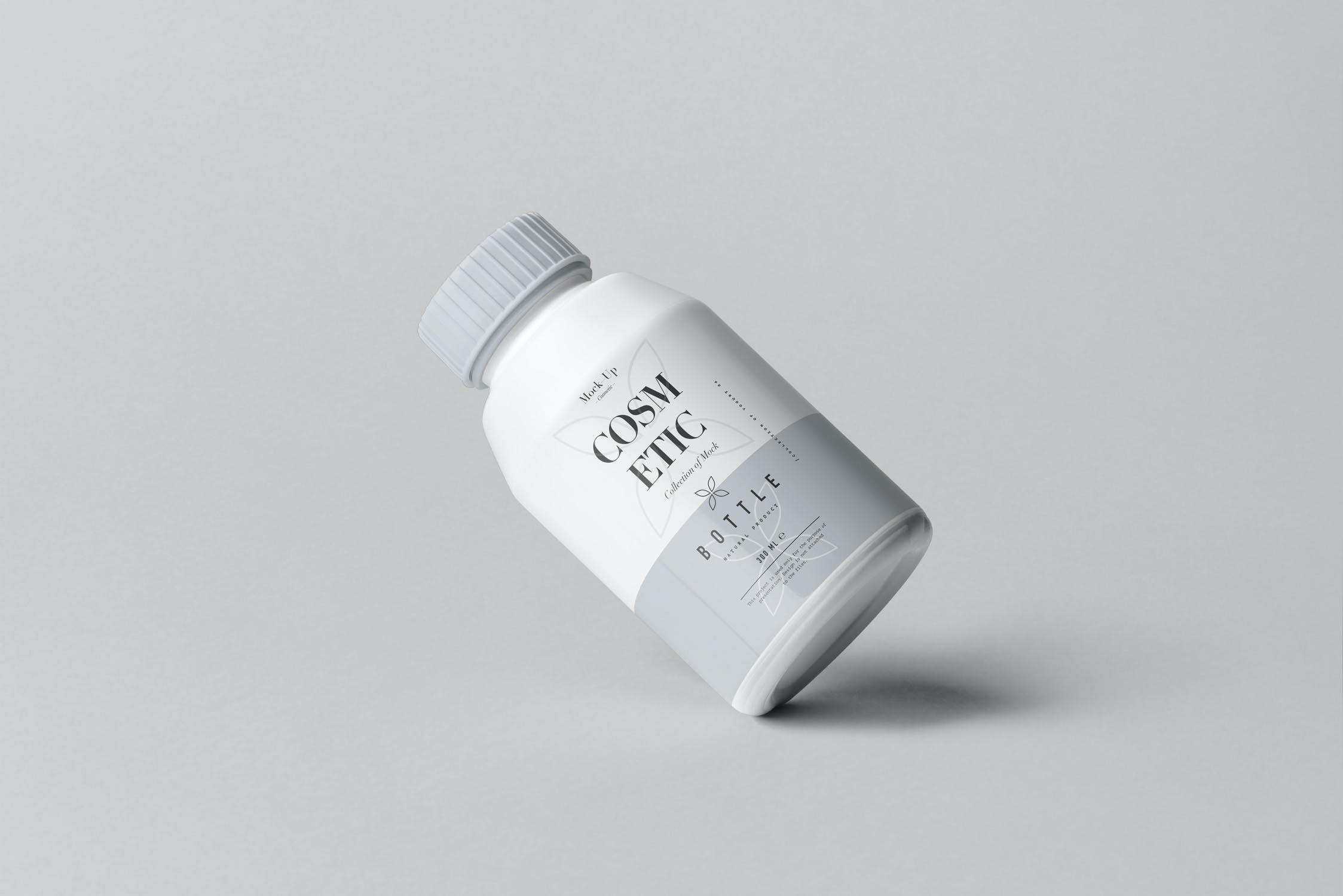10款化妆品塑料包装罐设计展示样机PSD模板 Cosmetic Bottle Mockup 3插图(10)
