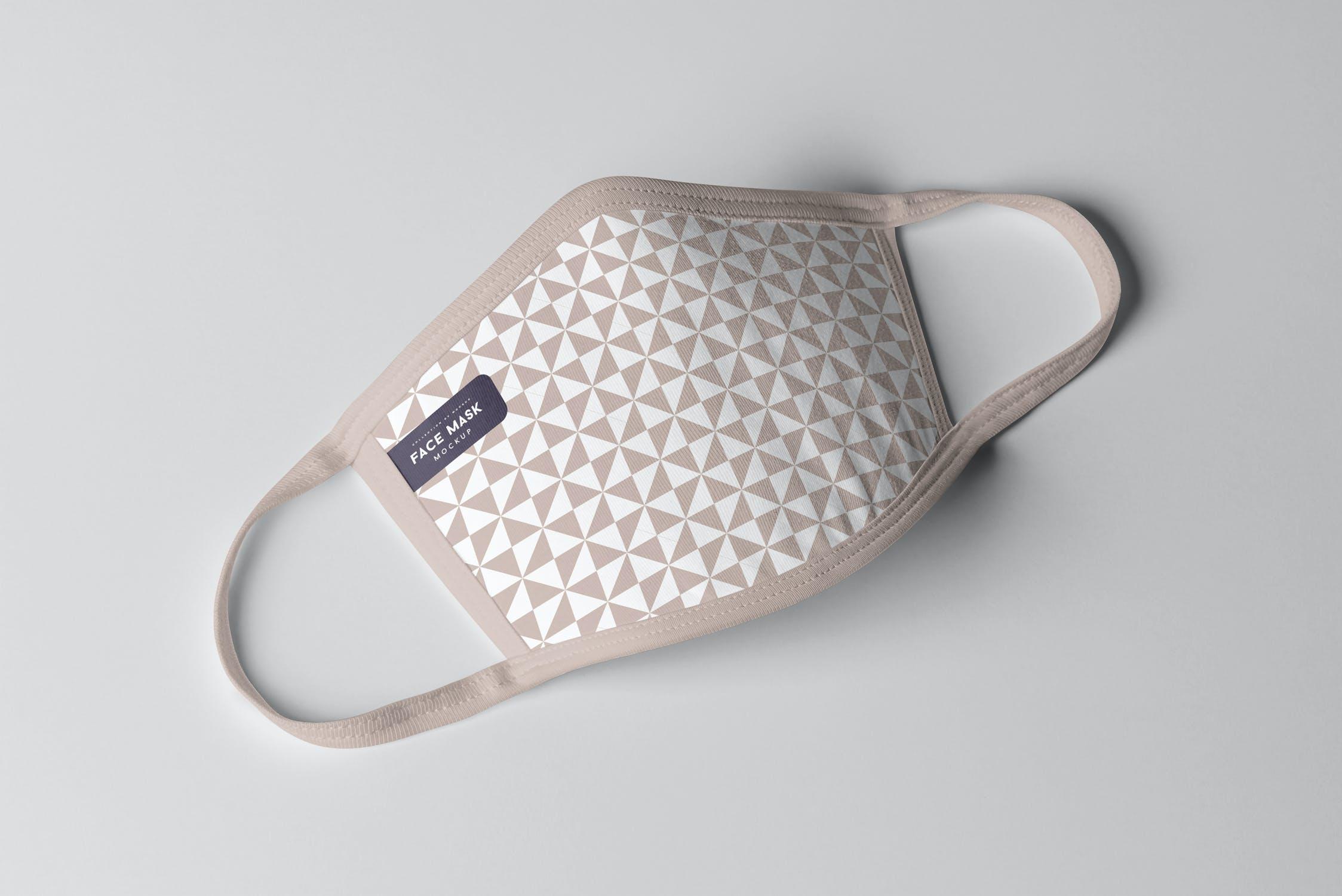 8款防护面罩口罩印花设计展示样机PSD模板 Face Mask Mockup插图(10)