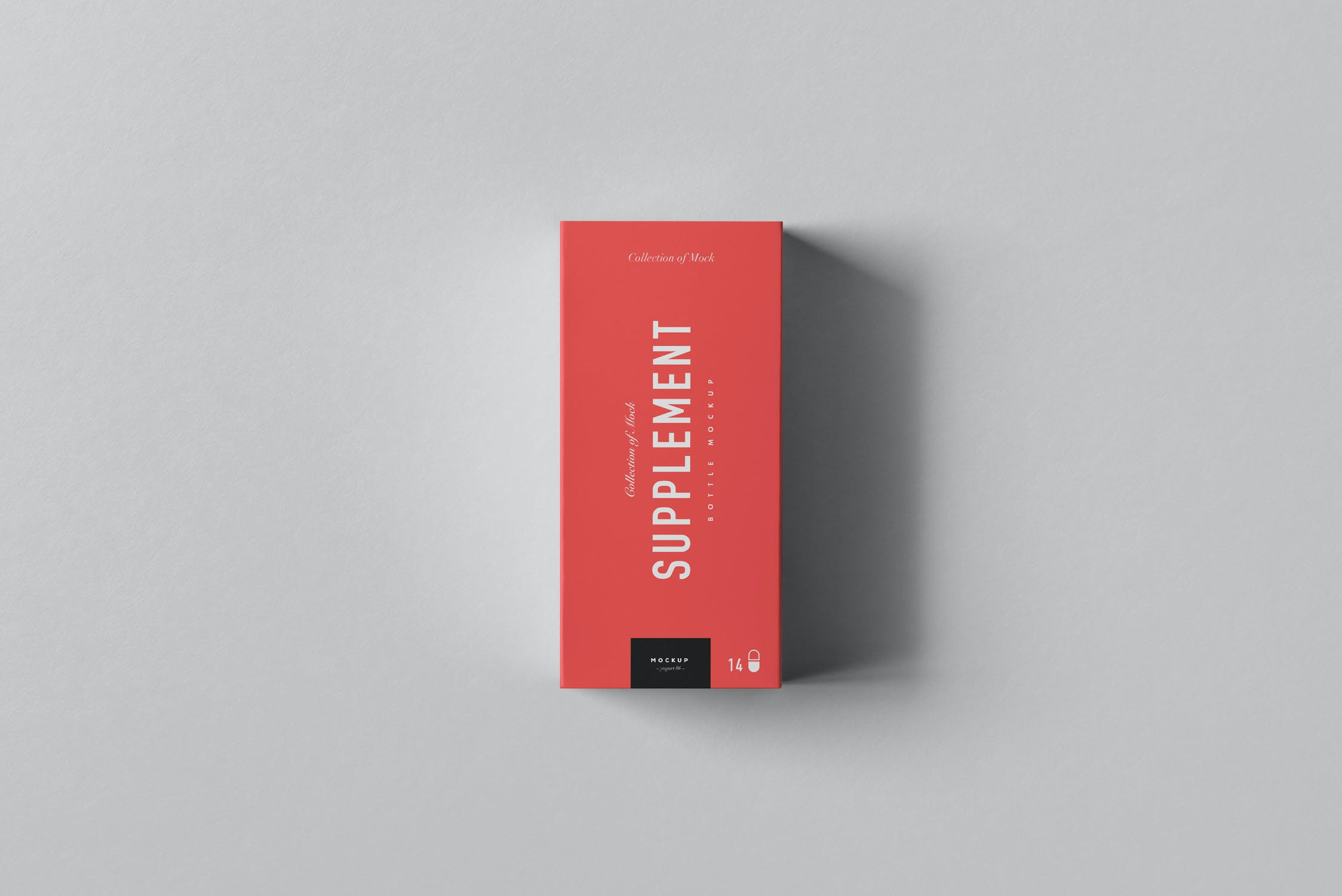 9款药物塑料补充瓶包装纸盒设计展示样机模板 Supplement Jar & Box Mockup 4插图(10)