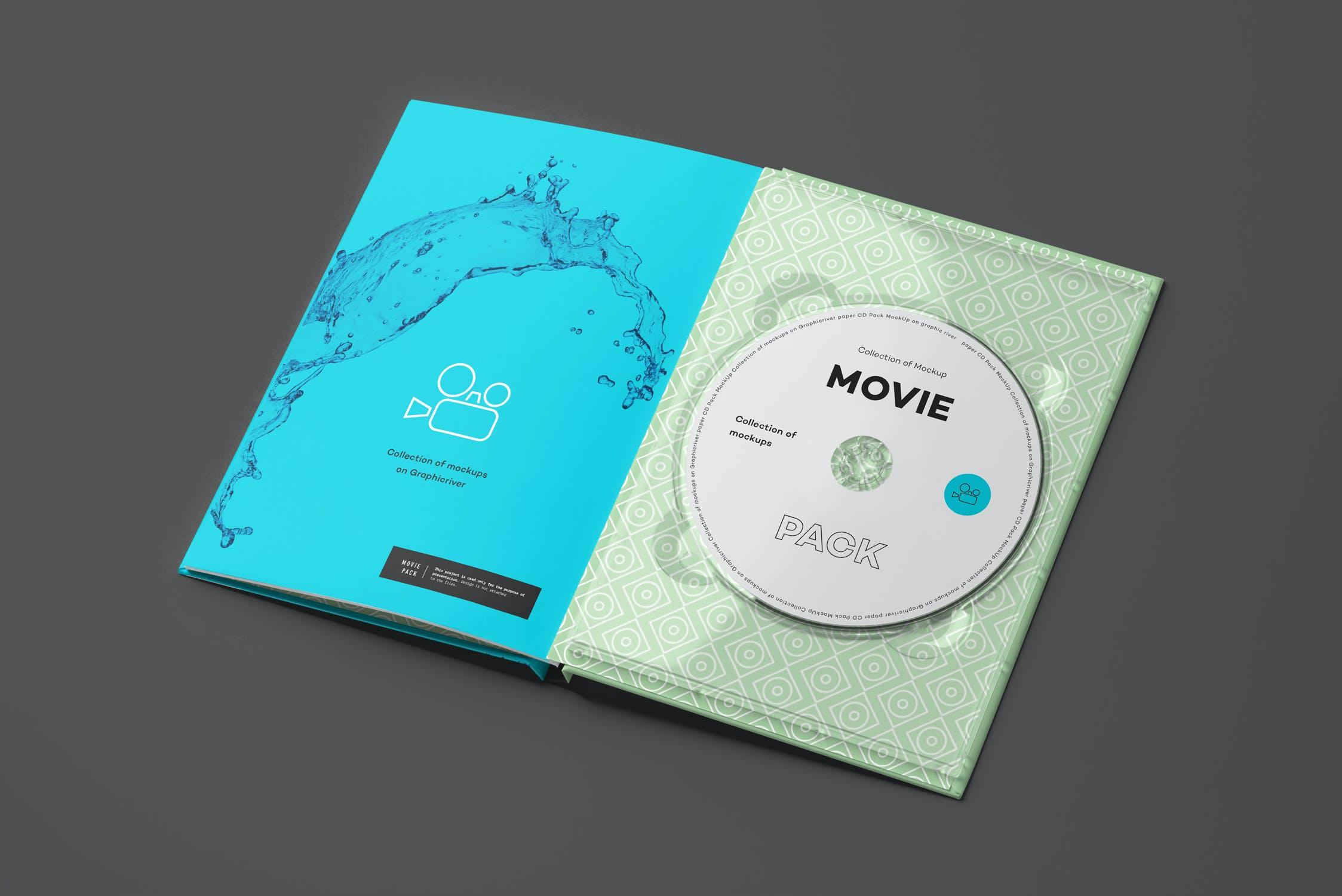 14款电影CD光盘包装纸盒设计展示样机 Movie Mockup 2插图(10)