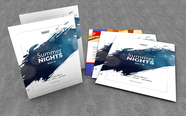 10款美式海报传单设计展示样机模板 U.S Letter Poster & Flyer Mockups插图(10)