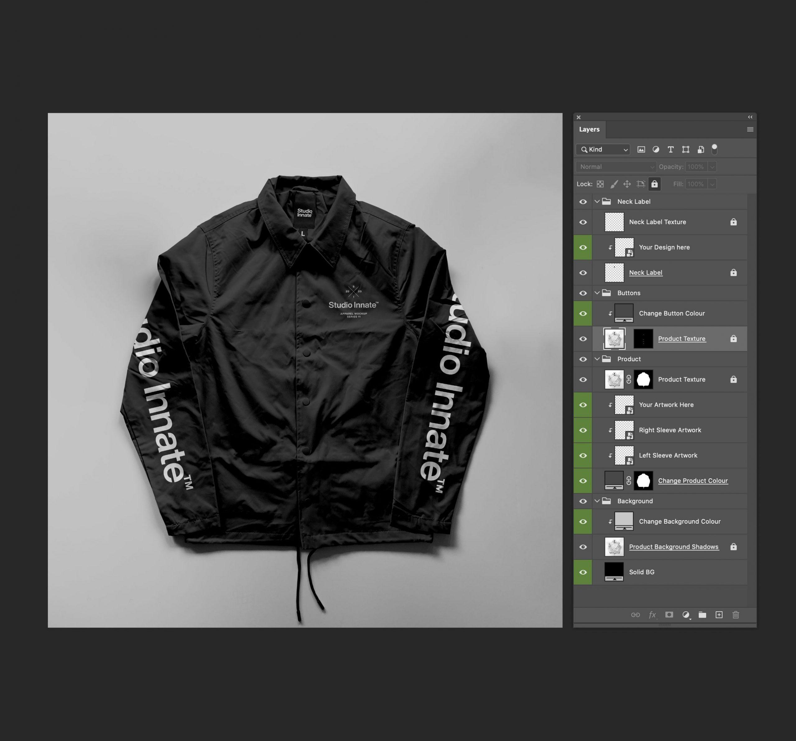 教练长袖夹克衫设计展示样机模板合集 Coach Jacket – Mockup Bundle插图(10)