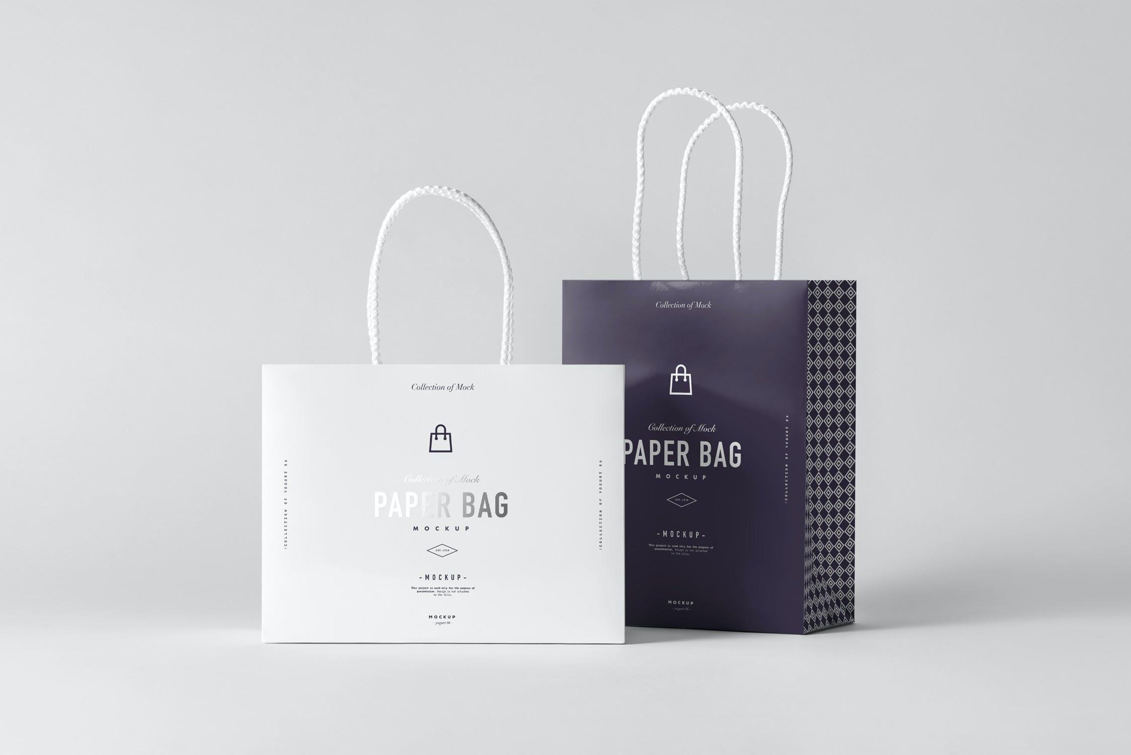 11款购物手提纸袋设计展示样机模板 Paper Bag Mockup 2插图(11)