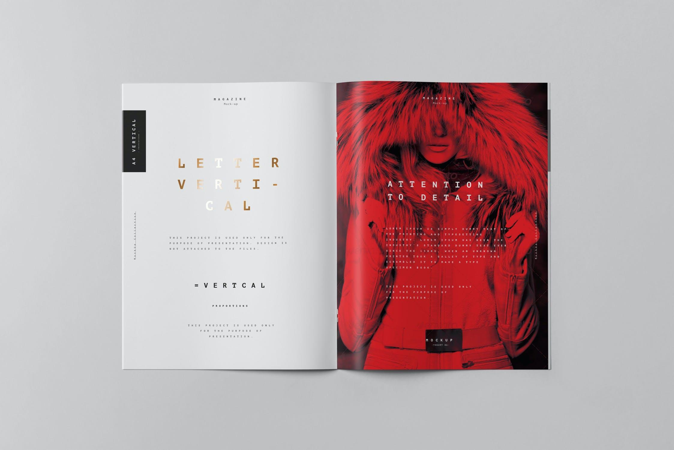 10款骑马钉宣传画册杂志设计展示样机模板 US Letter Brochure Mockup 3插图(11)