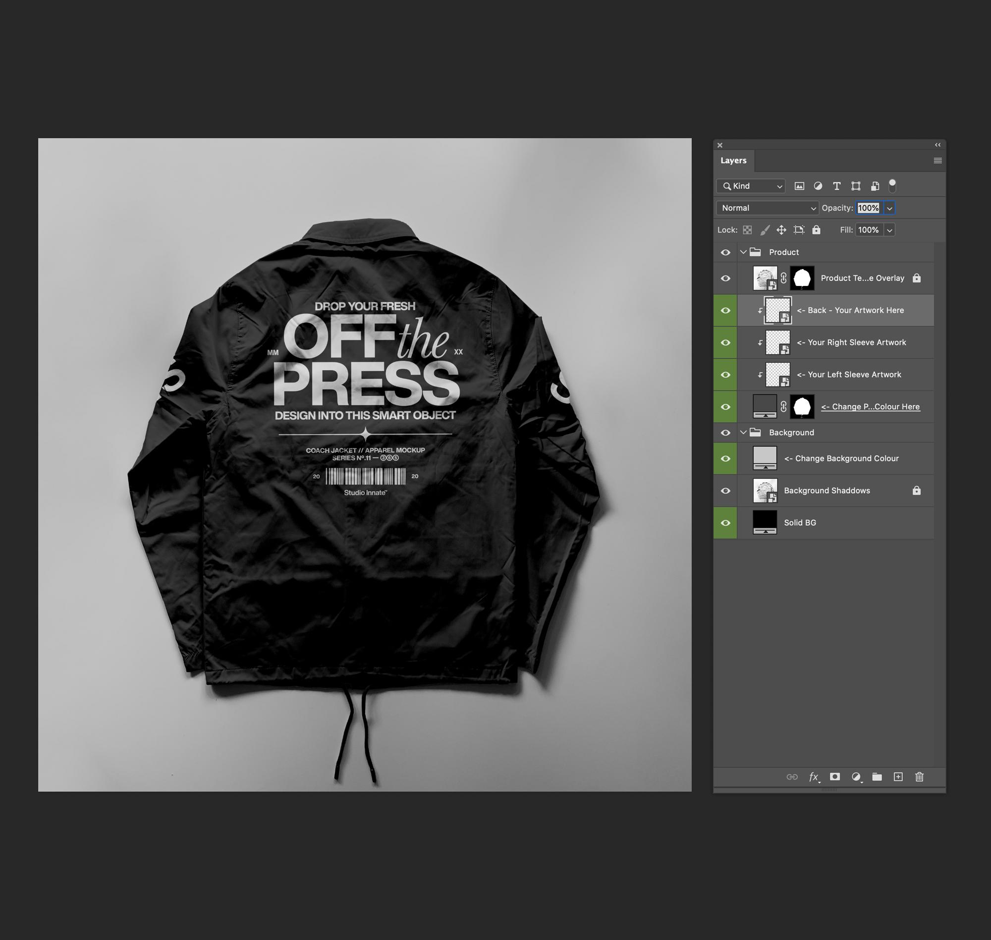 教练长袖夹克衫设计展示样机模板合集 Coach Jacket – Mockup Bundle插图(11)