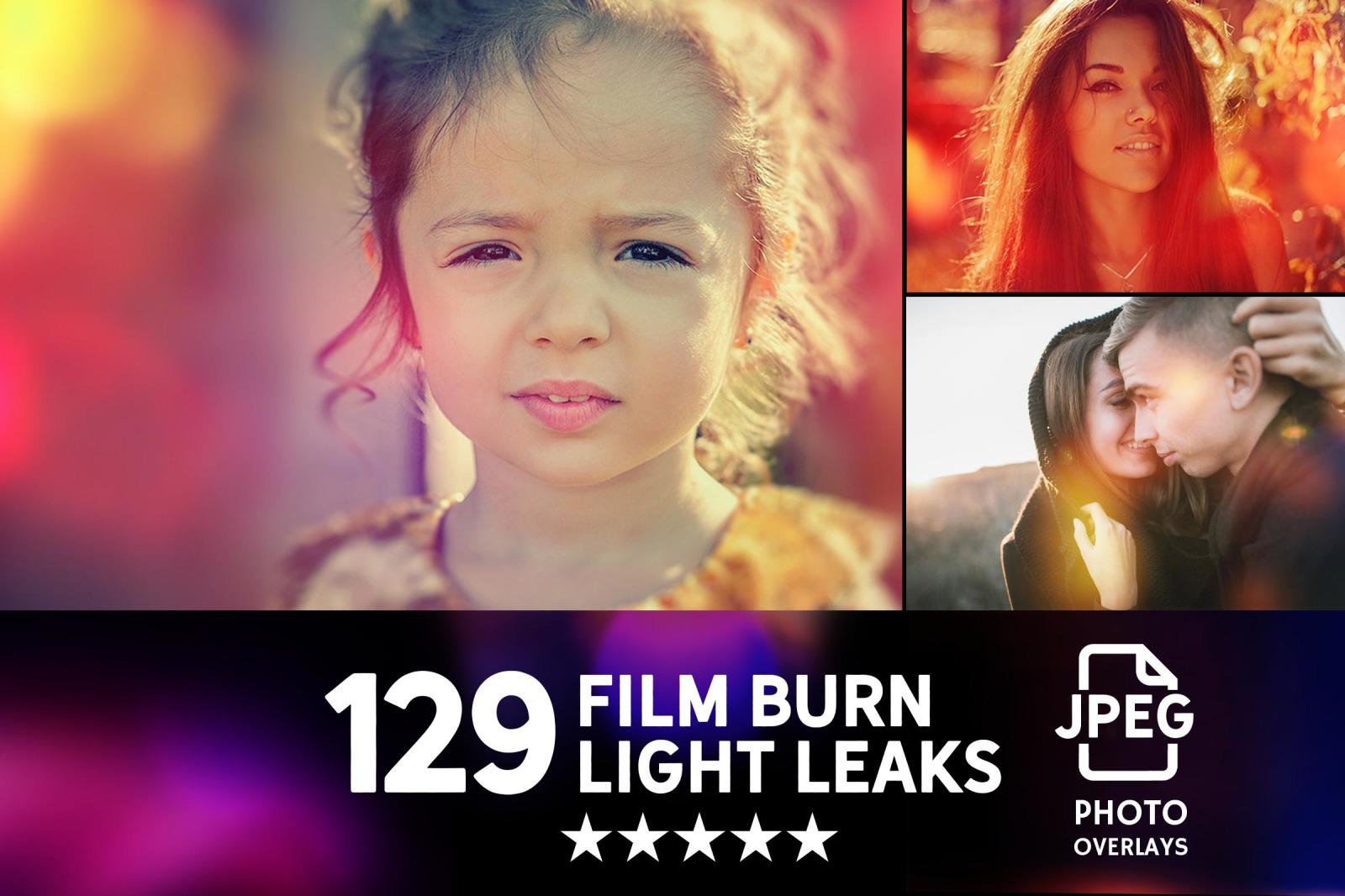 129款高清漏光照片叠加层图片素材 129 Warm Light Leaks Photo Overlays插图