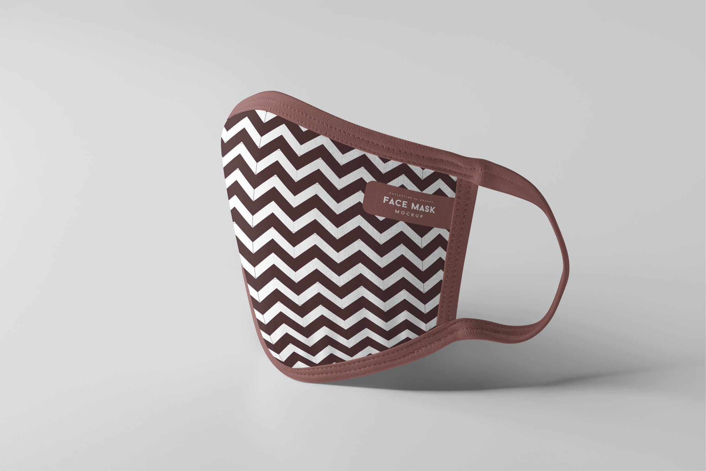 8款防护面罩口罩印花设计展示样机PSD模板 Face Mask Mockup插图(12)