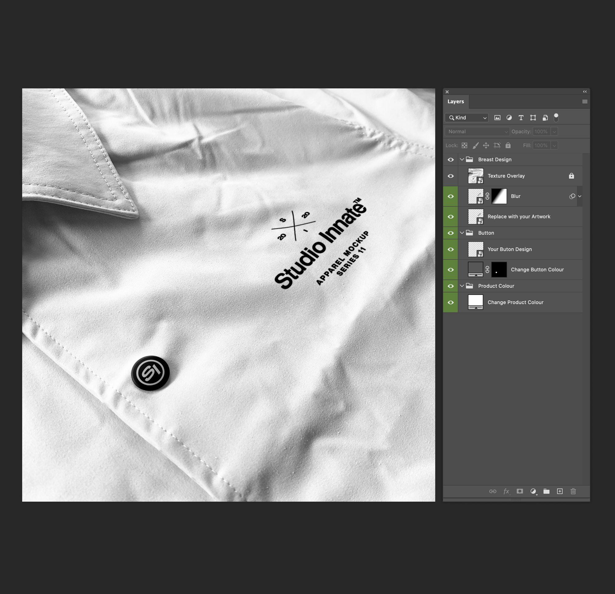 教练长袖夹克衫设计展示样机模板合集 Coach Jacket – Mockup Bundle插图(12)