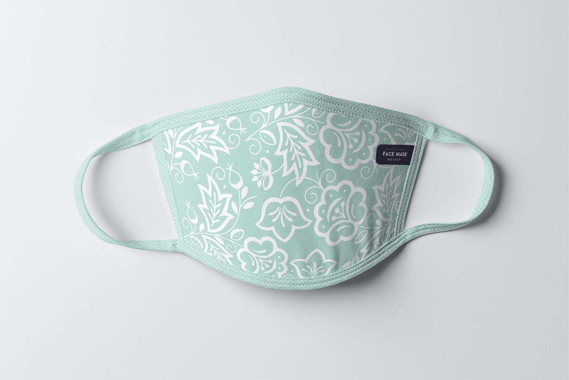 8款防护面罩口罩印花设计展示样机PSD模板 Face Mask Mockup插图(13)