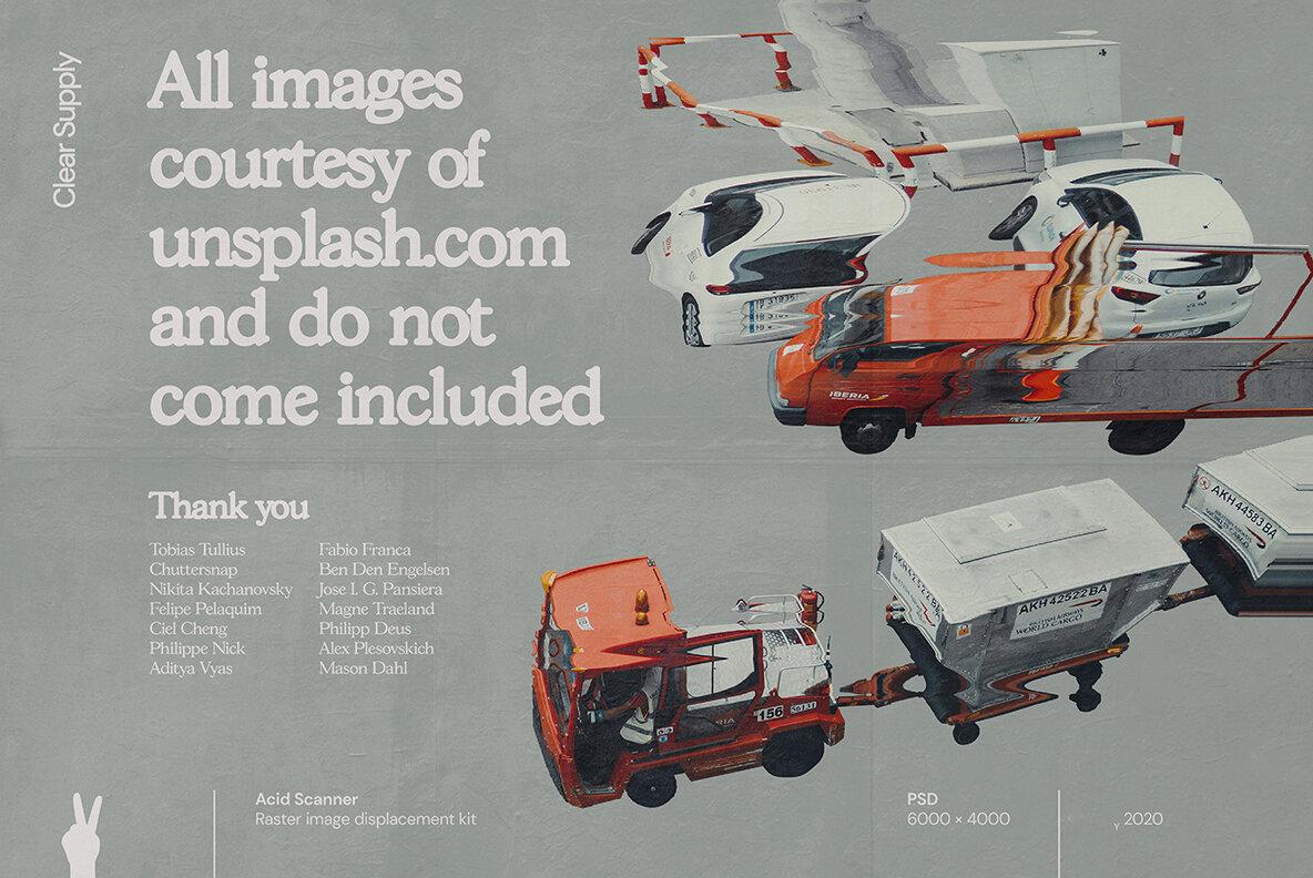 [淘宝购买] 60款高清扭曲故障位移海报设计效果样机PSD模版设计素材 Clear Supply – Acid Scanner插图(14)