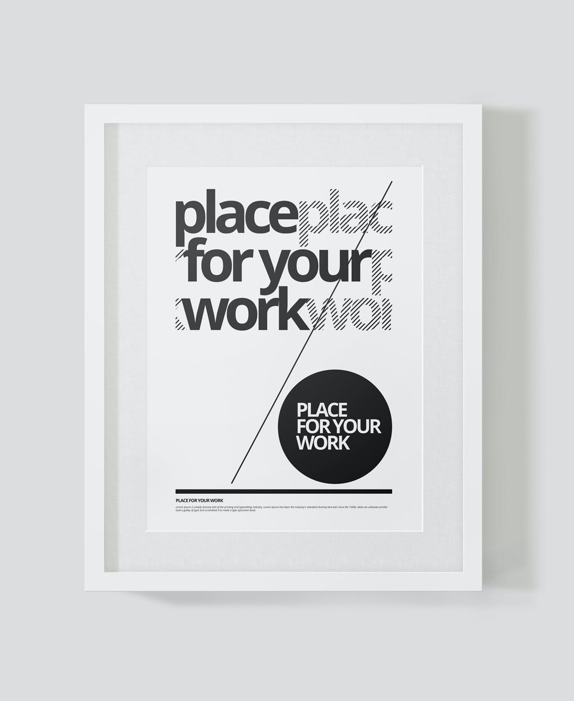 时尚绘画艺术品海报照片展示相框样机PSD模板 Frame For Your Work插图(15)