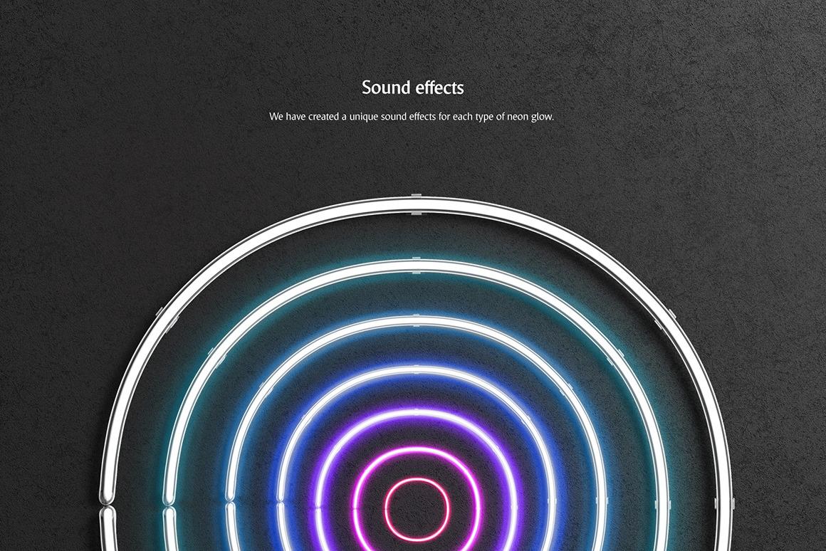 霓虹灯发光效果徽标大写字母设计展示动态样机模板 Animated Neon Font插图(3)