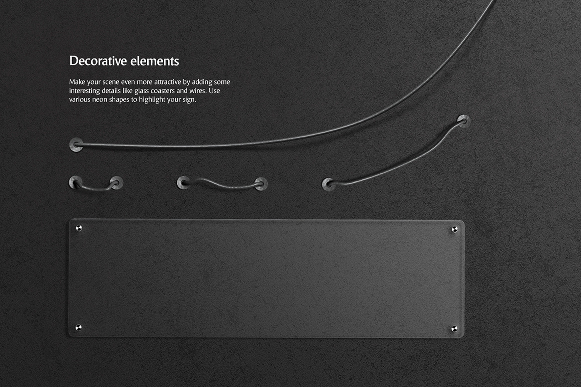 霓虹灯发光效果徽标大写字母设计展示动态样机模板 Animated Neon Font插图(5)