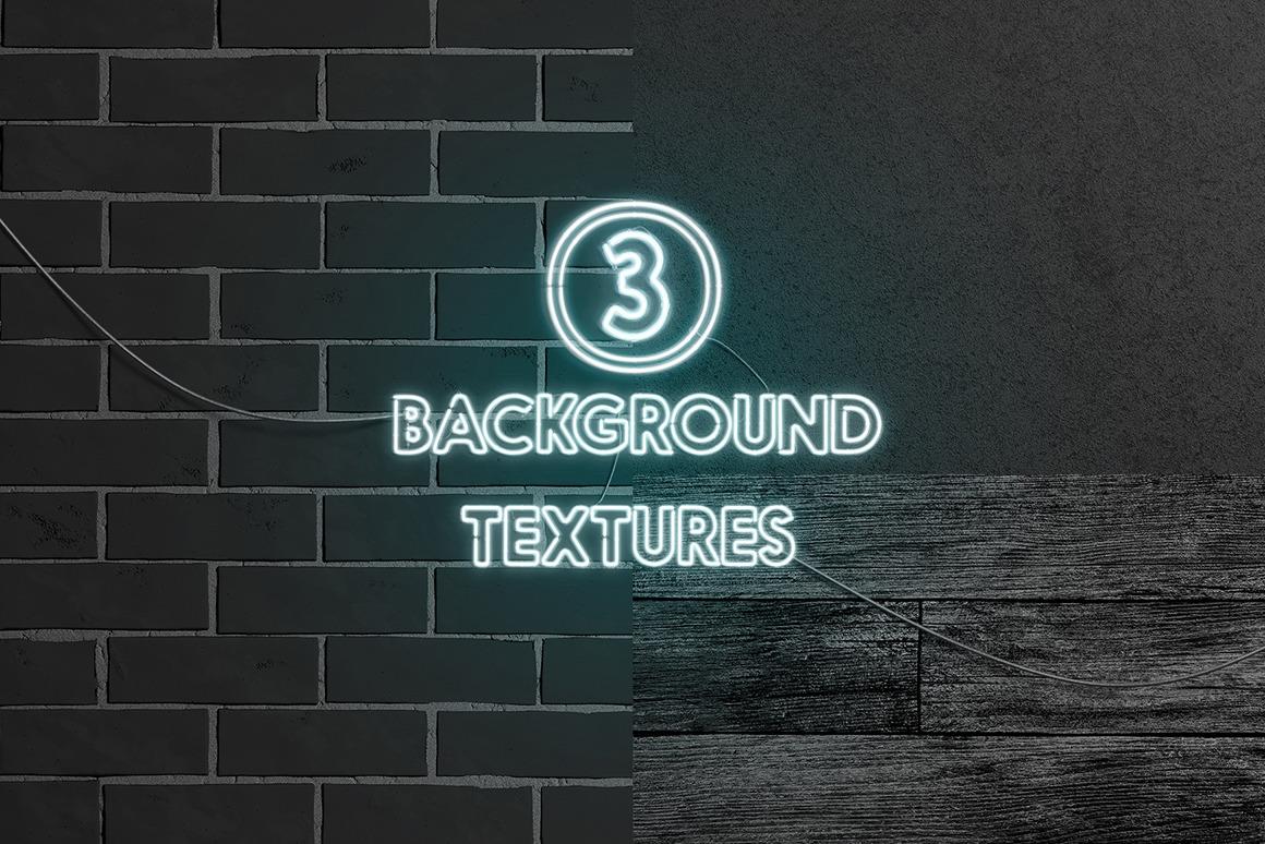 霓虹灯发光效果徽标大写字母设计展示动态样机模板 Animated Neon Font插图(8)