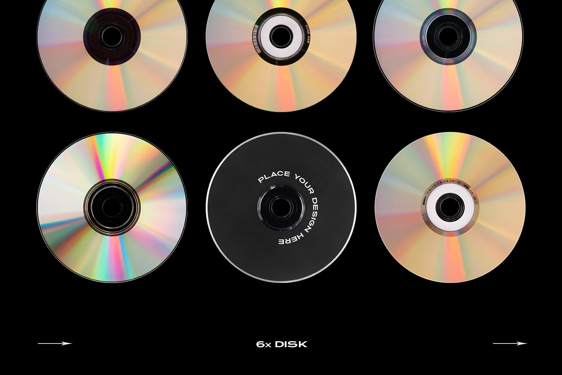 [淘宝购买] 60个DVD光盘包装盒塑料袋塑料膜贴纸样机PS设计素材 DVD Case Mockup Template Bundle Disc插图(17)