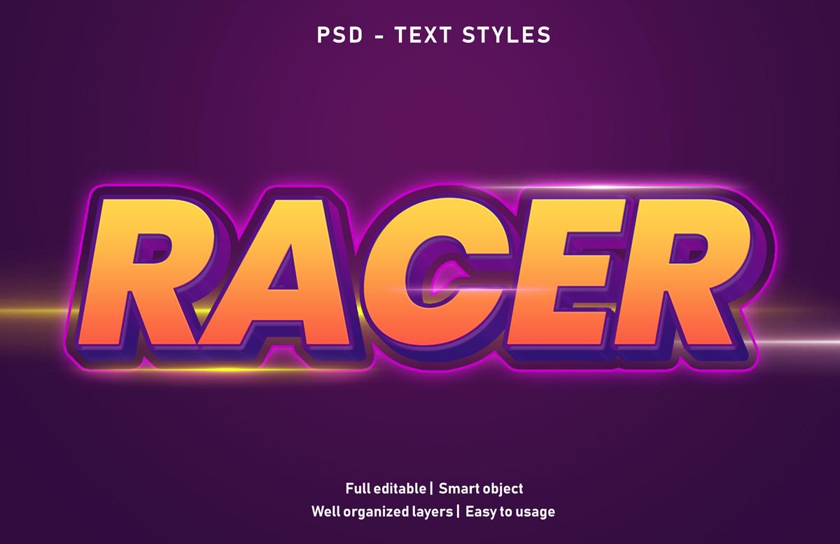 11款立体字效果徽标标题设计PS样式模板 Text Effect Mockup插图(5)