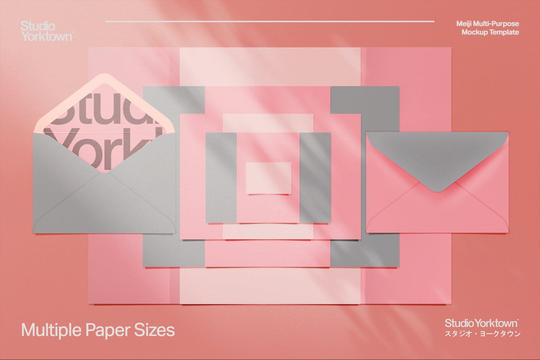 [淘宝购买] 潮流多功能压印铝箔虹彩效果办公用品场景样机套件 Meiji Multi Effect Mockup Template插图(18)