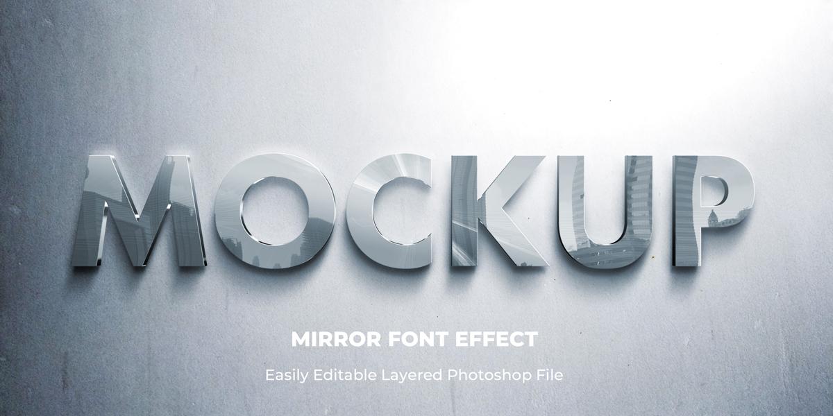 11款立体字效果徽标标题设计PS样式模板 Text Effect Mockup插图(8)