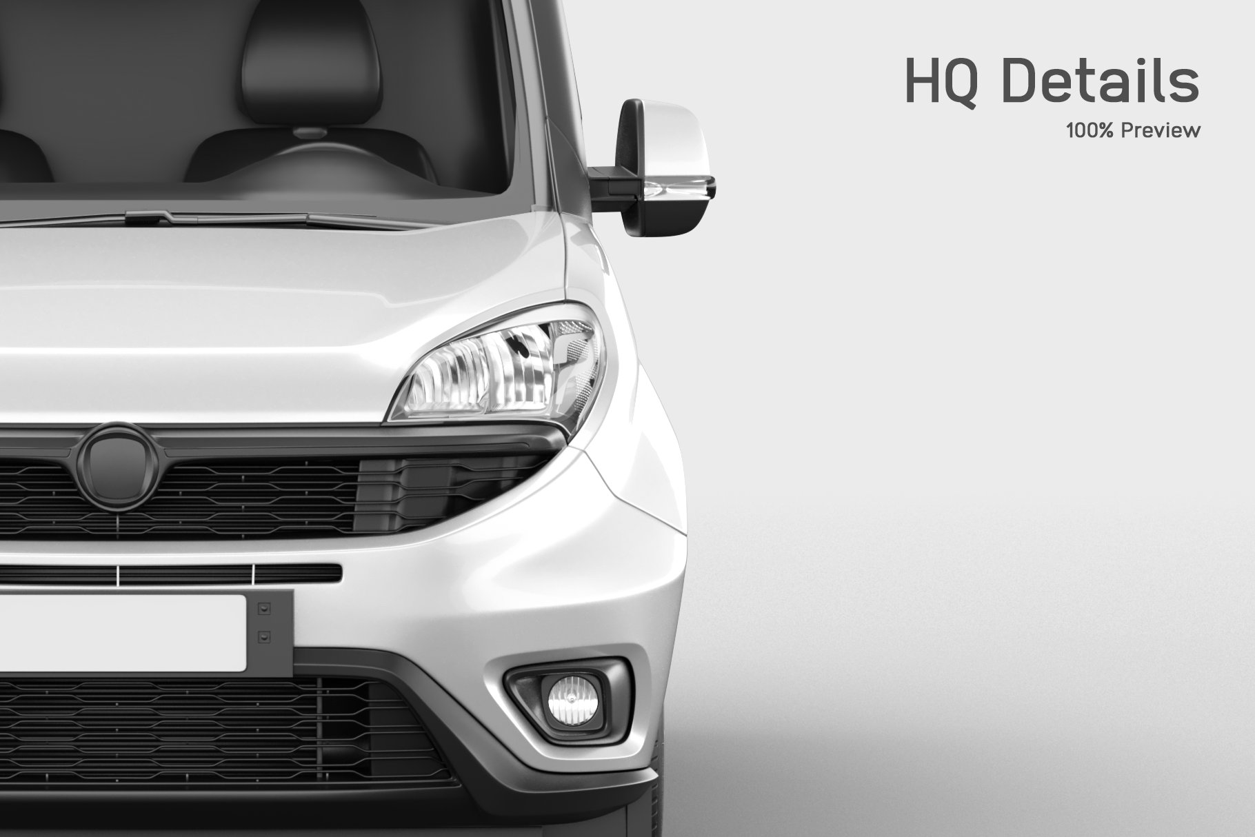 6款面包车小货车车身广告设计展示样机 Delivery Car Mockup 3插图(1)