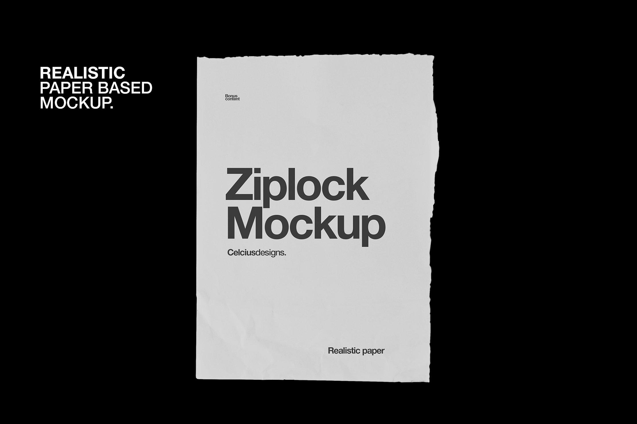 4款塑料自封包装袋设计贴图样机PSD模板 Zip Lock Mockups插图(1)