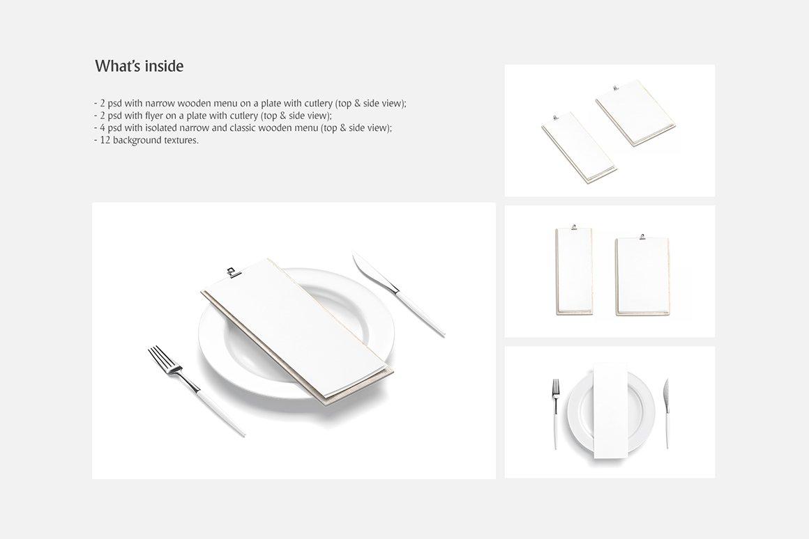 剪贴板菜单设计展示样机模板合集 Clipboard Menu Mockups Set插图(1)