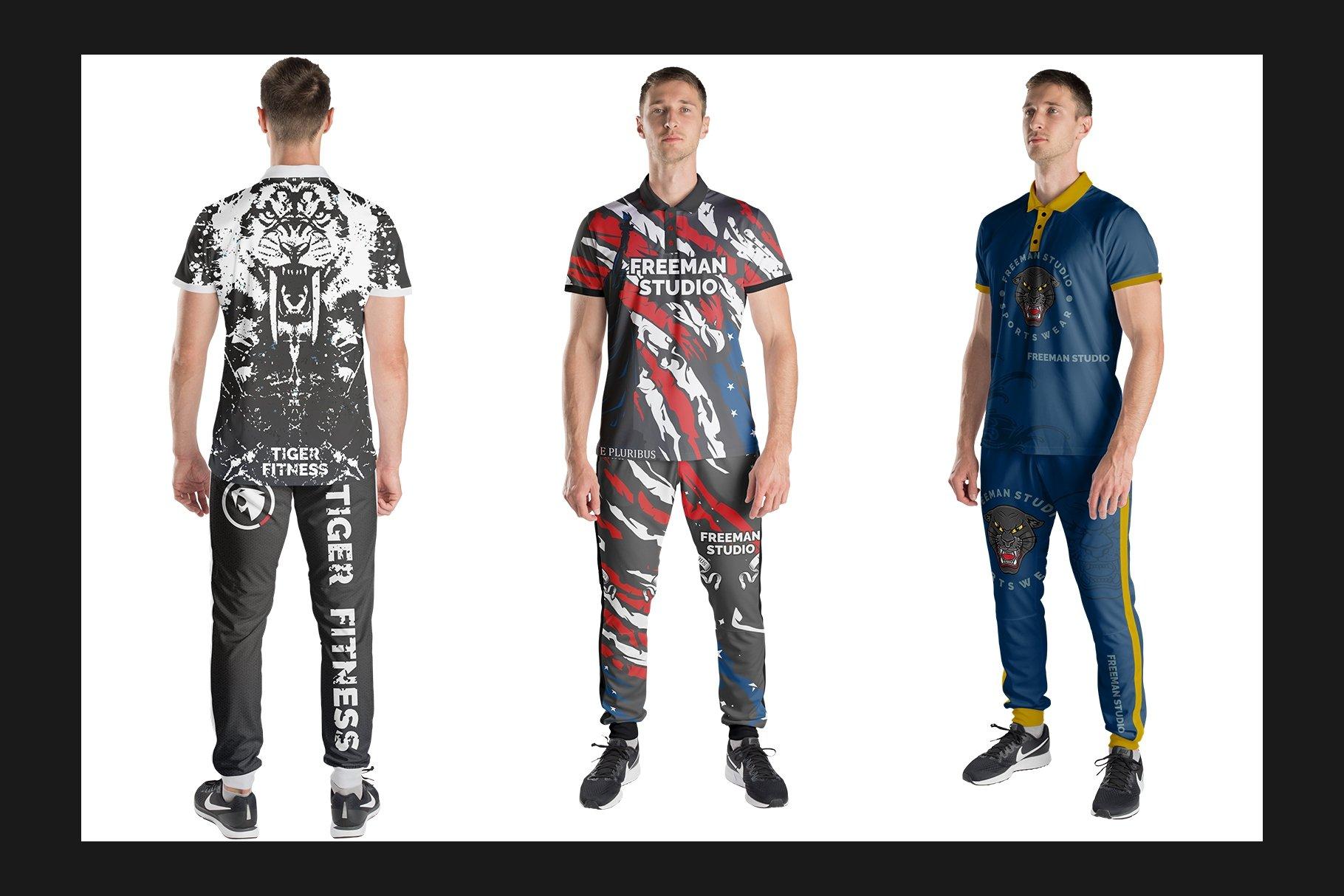 男士运动服饰设计展示样机模板 Sport Apparel Mockup Set插图(4)