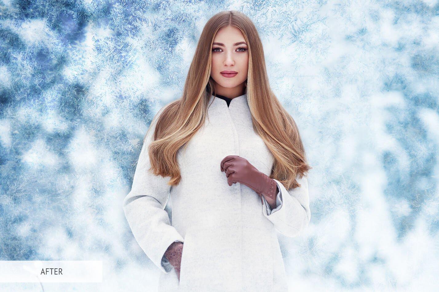 30款高清冬季冰雪PS叠加层背景图片素材 Ice Photoshop Overlays插图(4)
