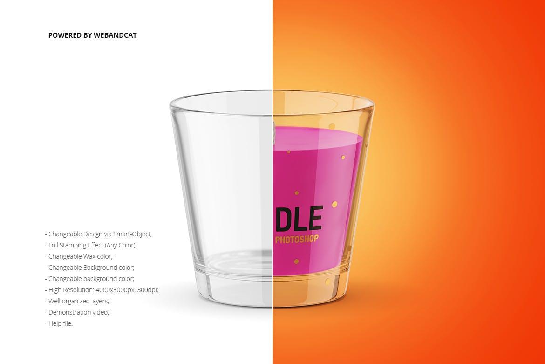 蜡烛香薰玻璃杯设计展示样机模板 Candle Mockup 2插图(1)