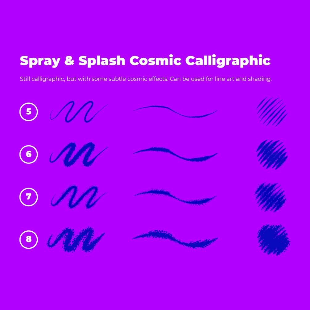 [淘宝购买] 霓虹发光噪点颗粒卷曲效果AI矢量笔刷素材 Neon & Noising Inking Brushes + Character Design Tutorial插图(3)