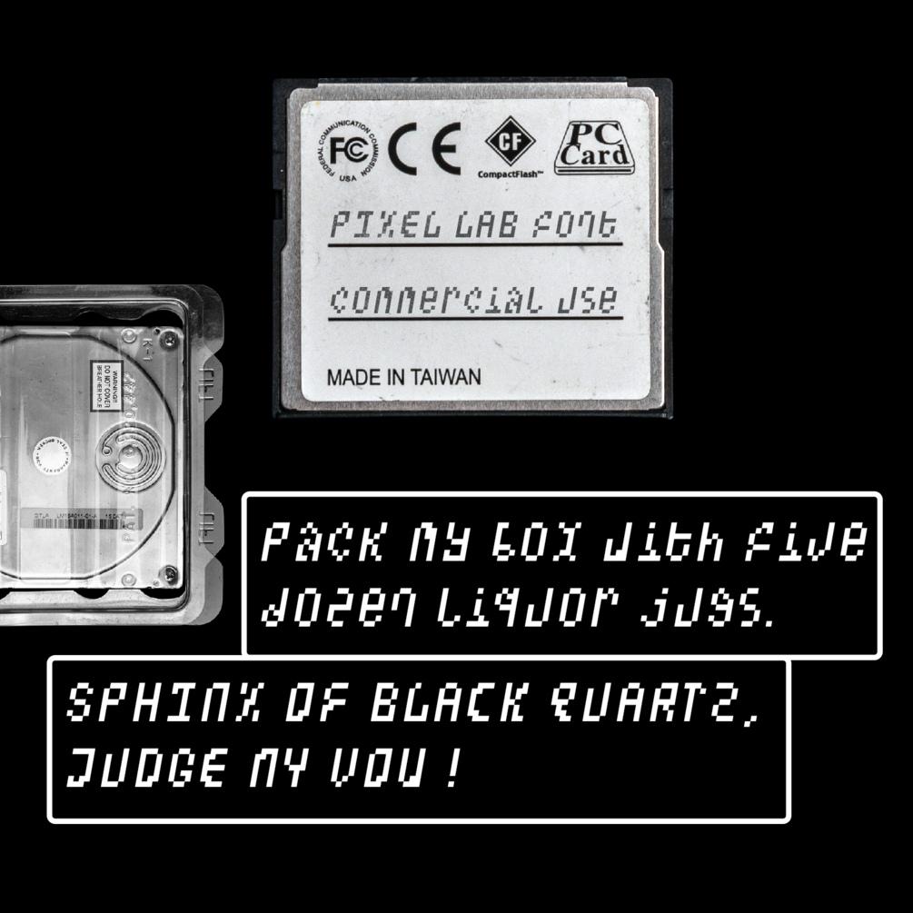 潮流像素点状装饰英文字体设计素材 Pixel Lab Typeface插图(1)