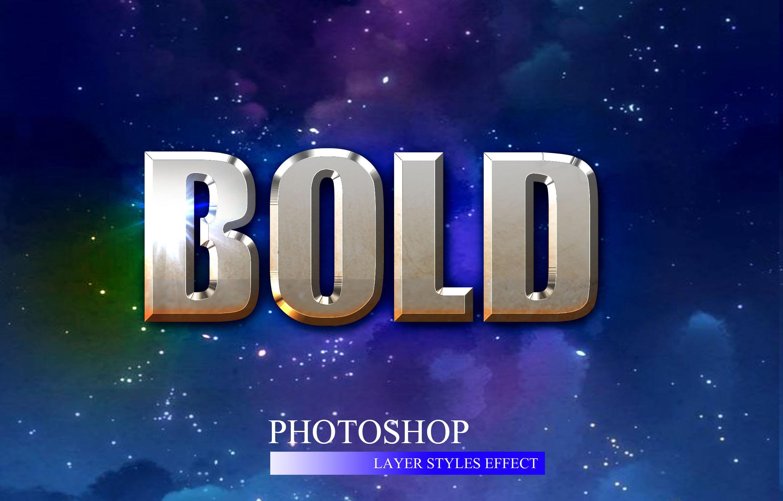 10款金属3D立体效果标题字体设计PS样式模板 10 3D Text Style插图(2)