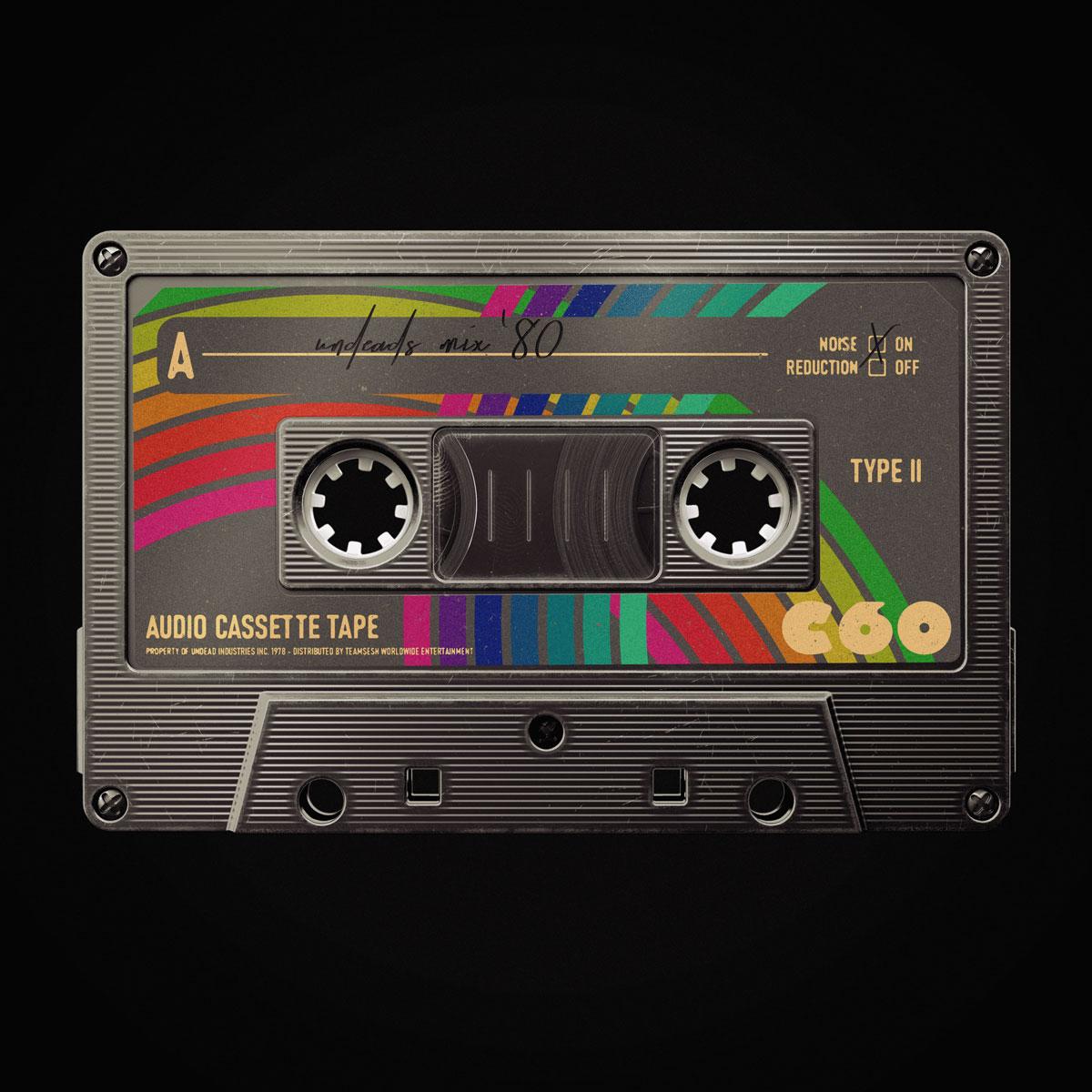 [淘宝购买] 潮流复古盒式磁带录音带设计智能贴图展示样机模板 Undead's Mix '80插图(1)