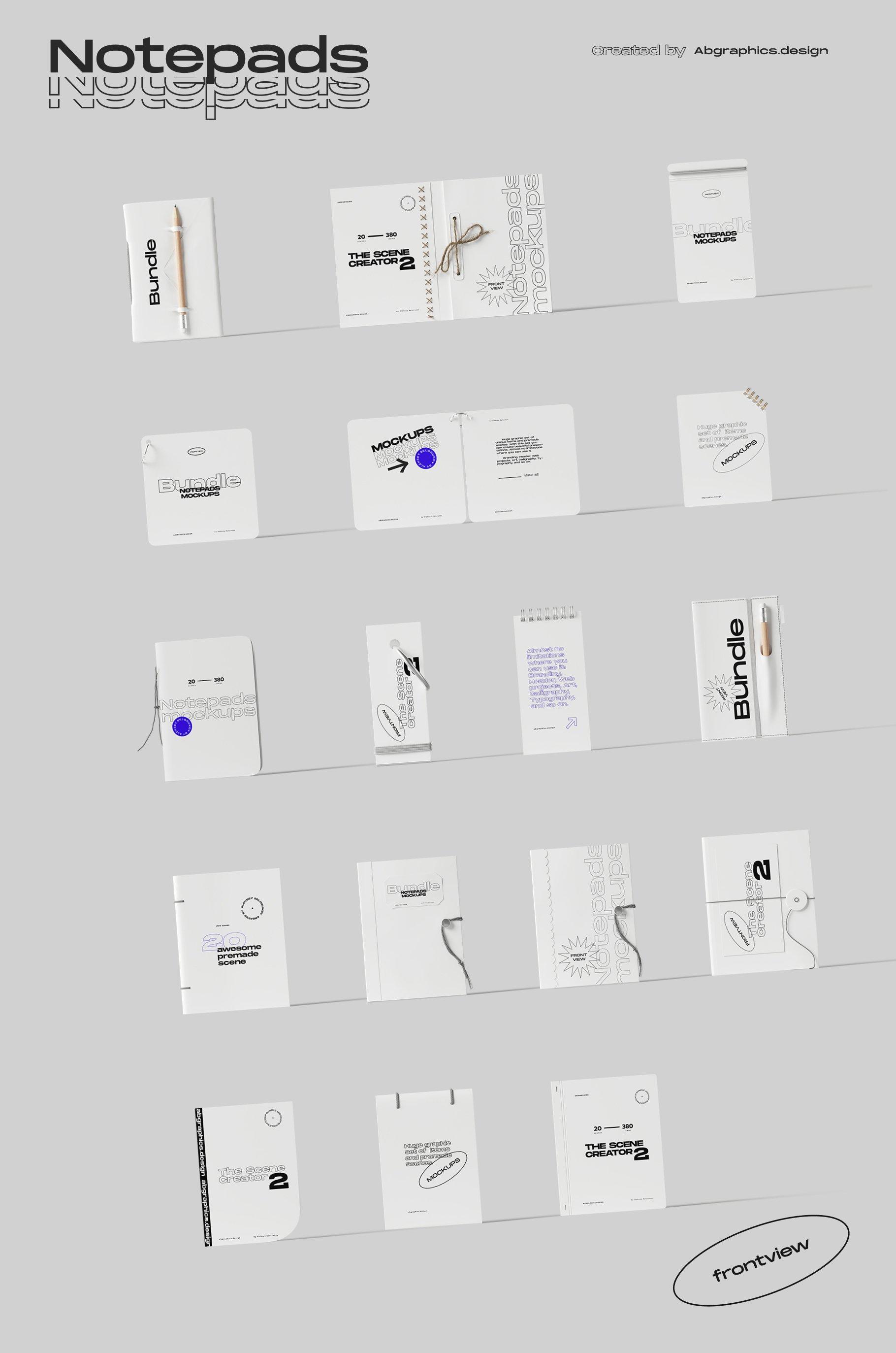 [淘宝购买] 超大品牌VI包装设计PS智能贴图样机模板素材 The Scene Creator 2 / Frontview插图(20)
