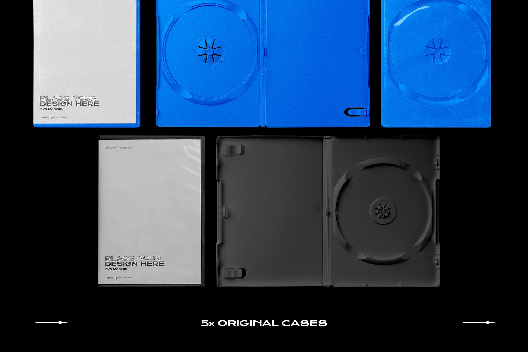 [淘宝购买] 60个DVD光盘包装盒塑料袋塑料膜贴纸样机PS设计素材 DVD Case Mockup Template Bundle Disc插图(22)