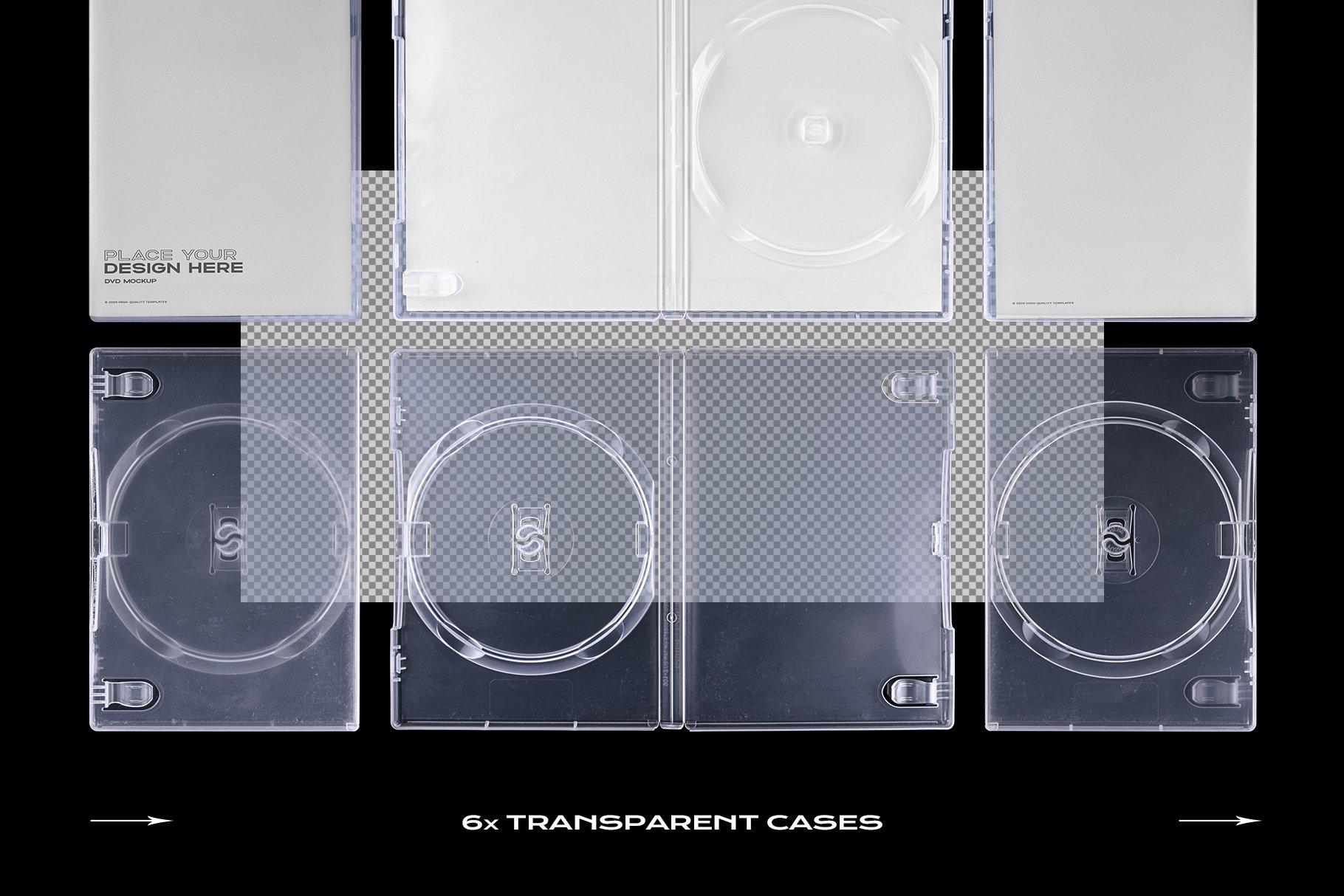 [淘宝购买] 60个DVD光盘包装盒塑料袋塑料膜贴纸样机PS设计素材 DVD Case Mockup Template Bundle Disc插图(23)