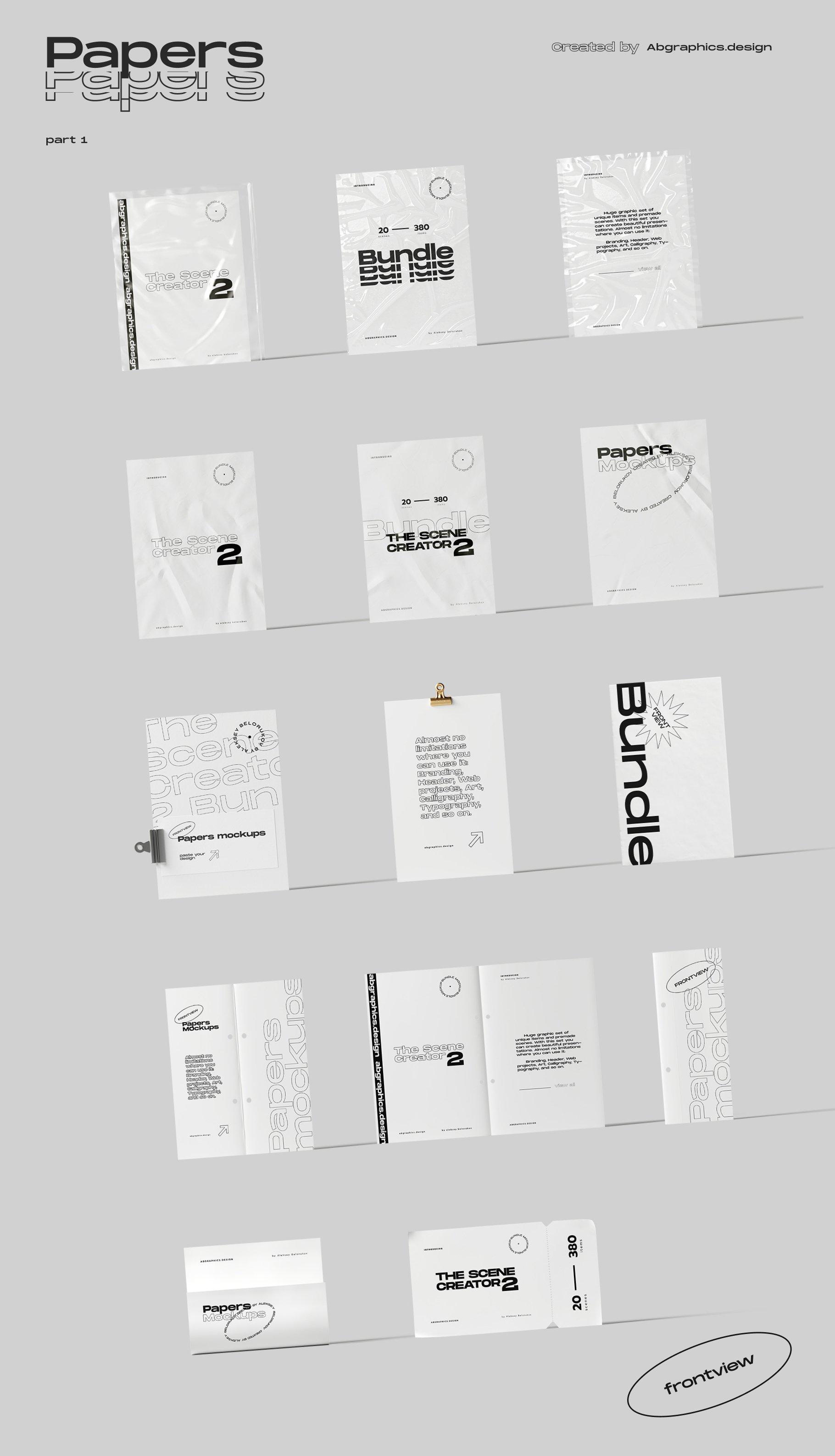 [淘宝购买] 超大品牌VI包装设计PS智能贴图样机模板素材 The Scene Creator 2 / Frontview插图(22)