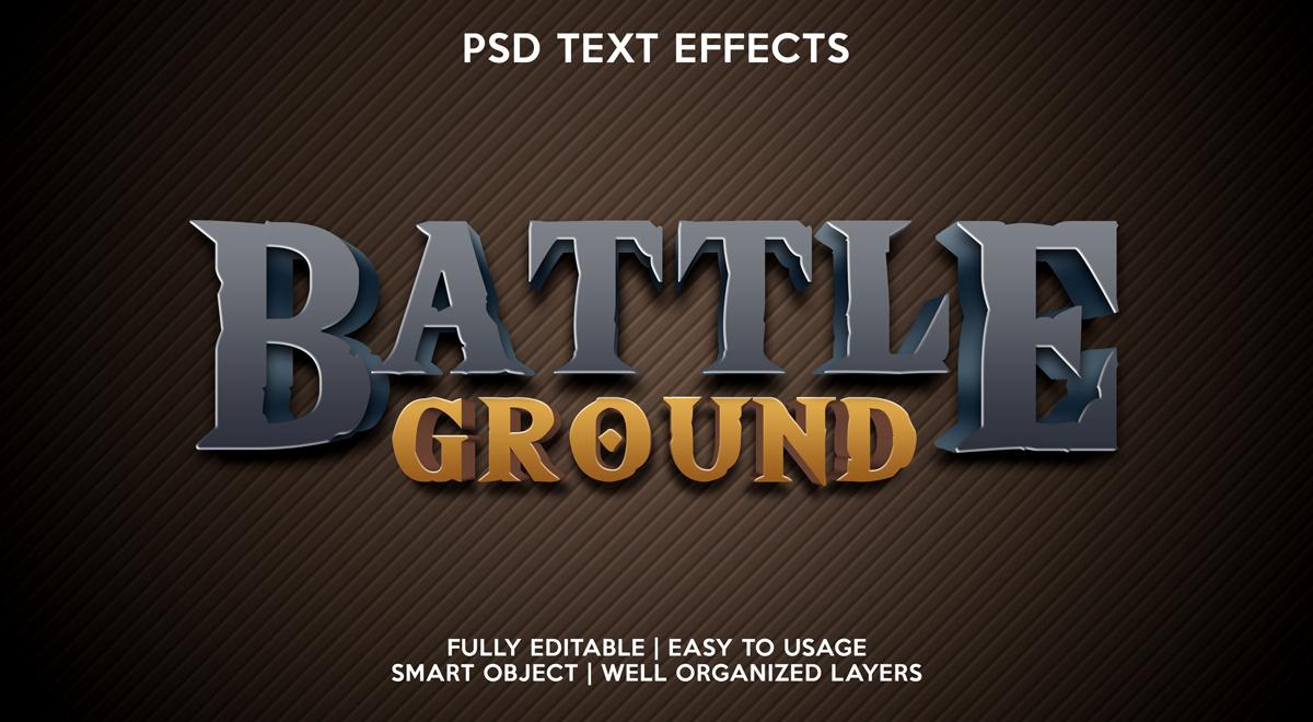11款立体字效果徽标标题设计PS样式模板 Text Effect Mockup插图(10)