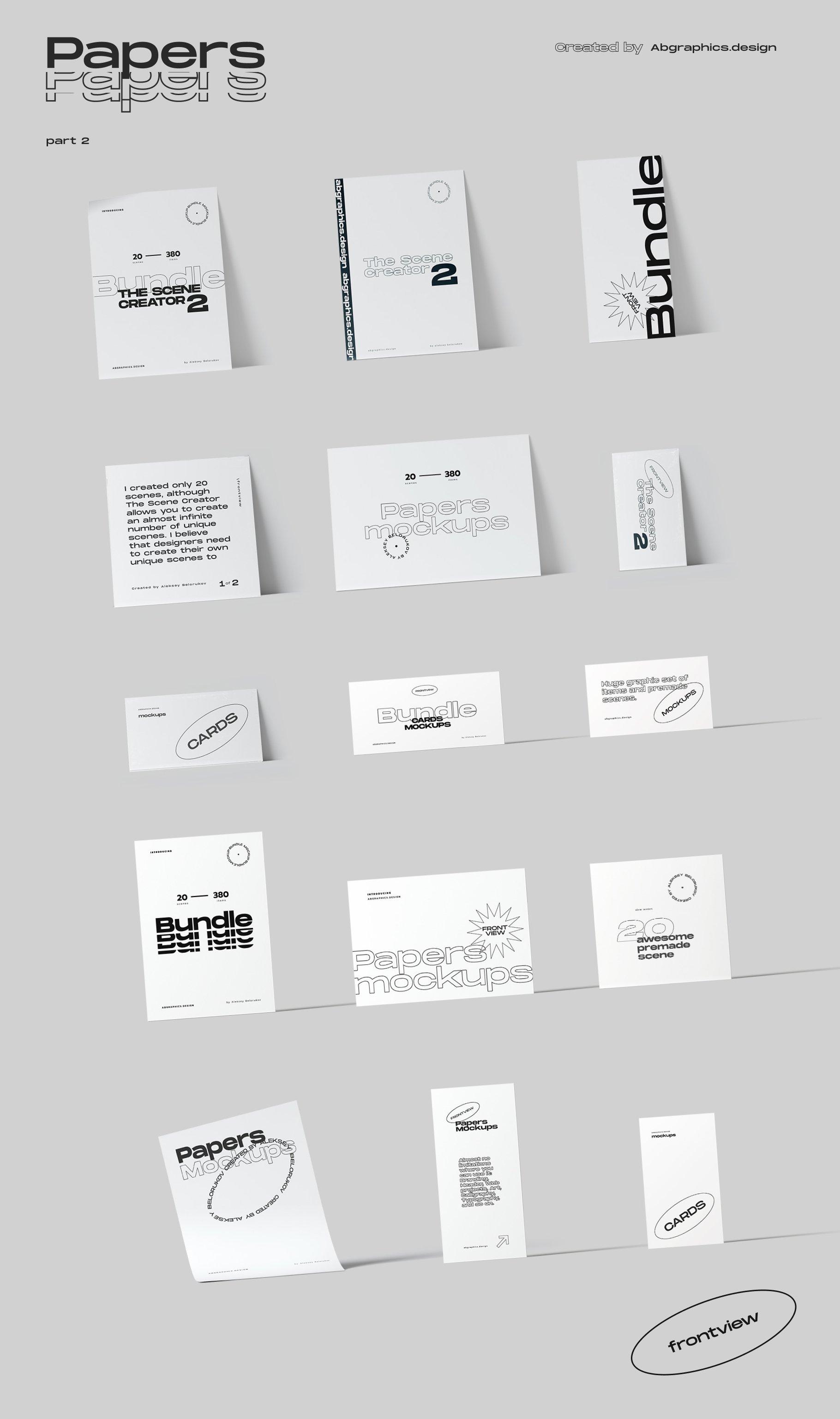 [淘宝购买] 超大品牌VI包装设计PS智能贴图样机模板素材 The Scene Creator 2 / Frontview插图(23)