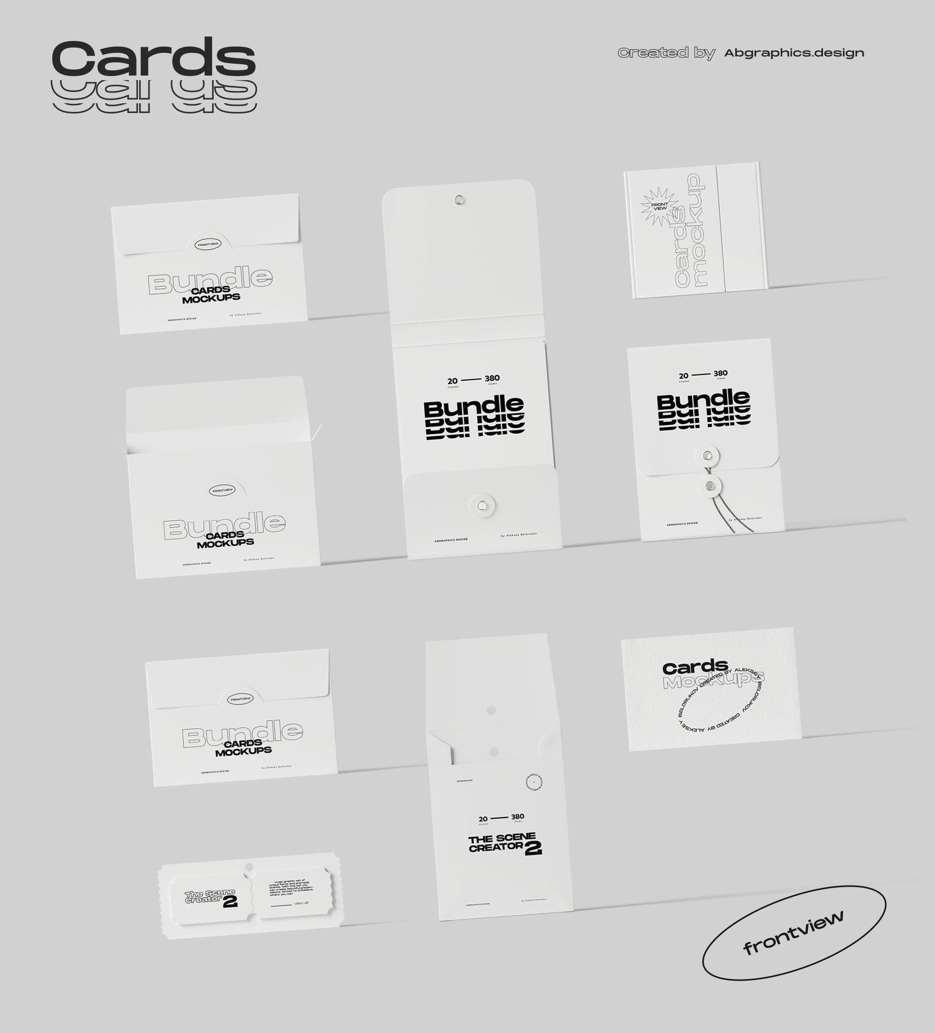[淘宝购买] 超大品牌VI包装设计PS智能贴图样机模板素材 The Scene Creator 2 / Frontview插图(25)