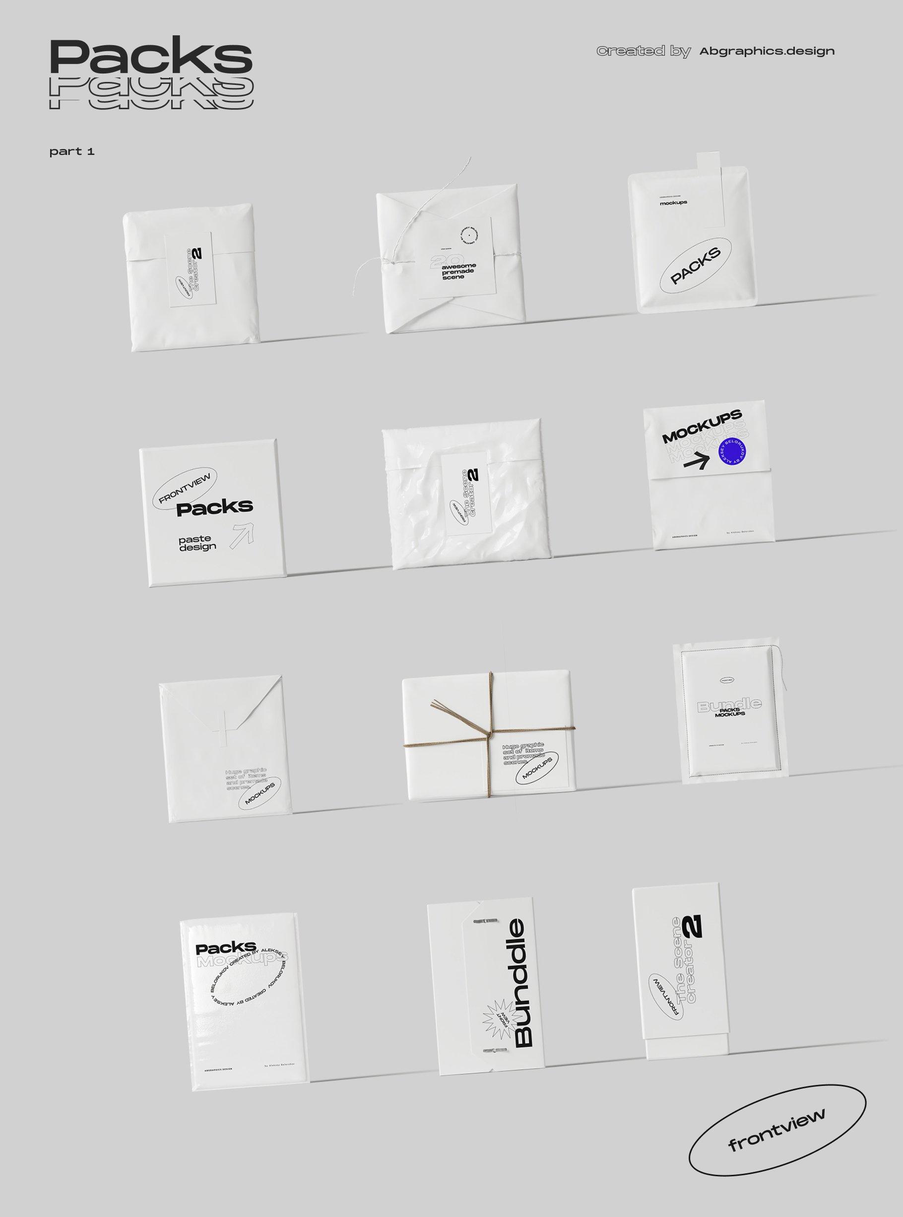 [淘宝购买] 超大品牌VI包装设计PS智能贴图样机模板素材 The Scene Creator 2 / Frontview插图(27)