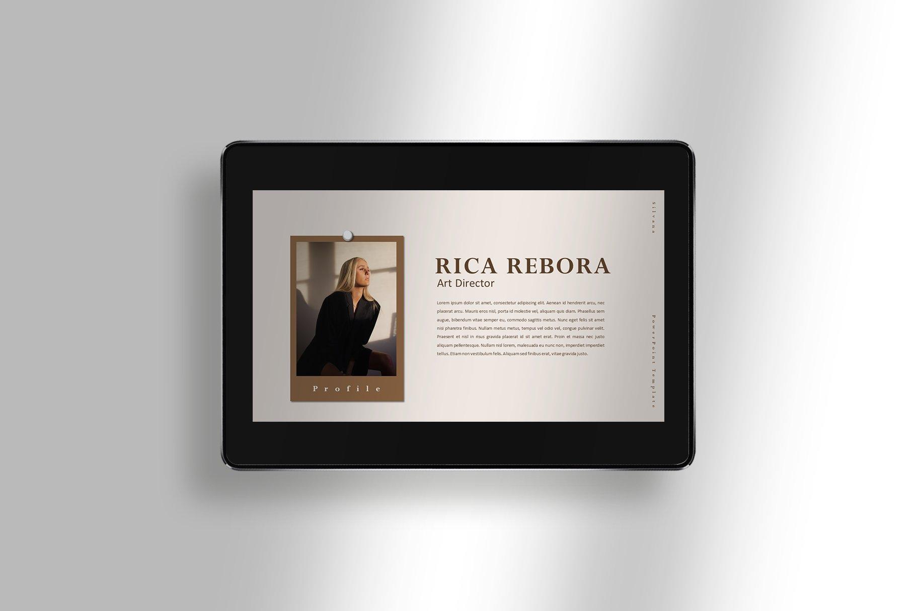 极简女性服装摄影作品集图文排版PPT幻灯片设计模板 Silvana – Presentation Template插图(2)