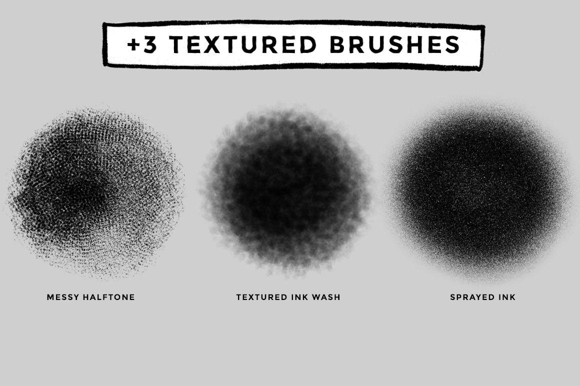 12款油漆水墨绘画效果Procreate笔刷 Ink And Paint Procreate Brushes插图(3)