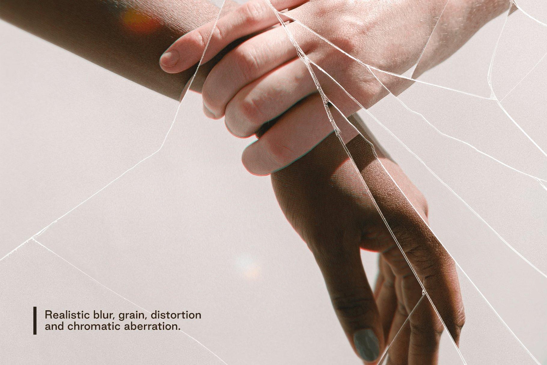 [淘宝购买]模糊破碎破裂变形玻璃叠加层背景PS设计素材 Broken – Cracked Glass Distortions插图2