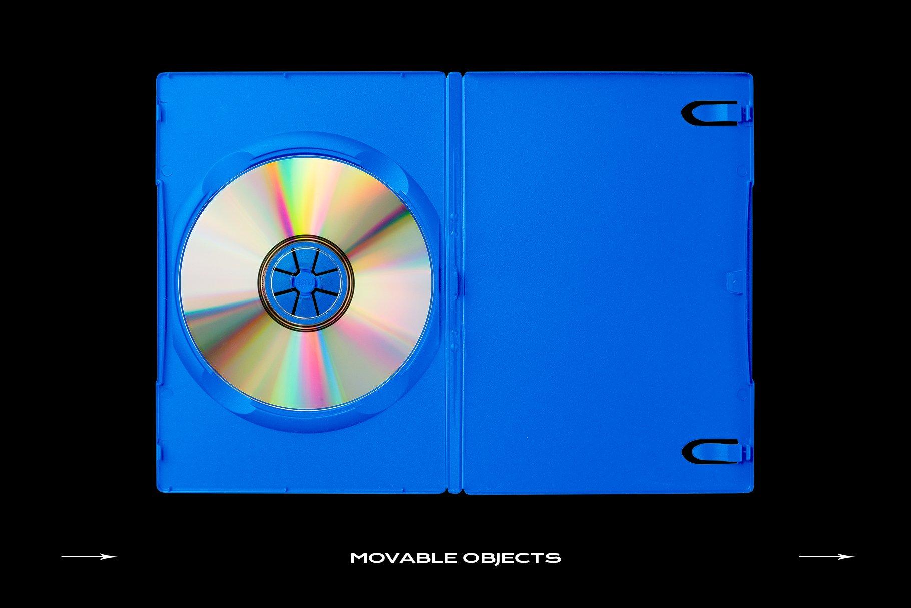 [淘宝购买] 60个DVD光盘包装盒塑料袋塑料膜贴纸样机PS设计素材 DVD Case Mockup Template Bundle Disc插图(3)