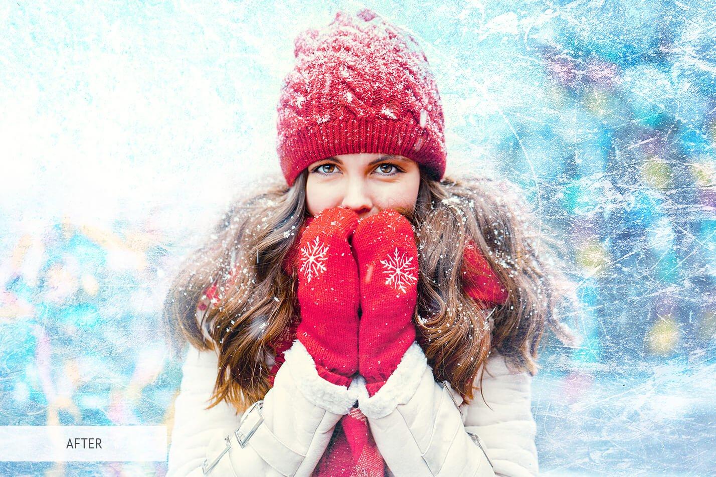 30款高清冬季冰雪PS叠加层背景图片素材 Ice Photoshop Overlays插图(6)