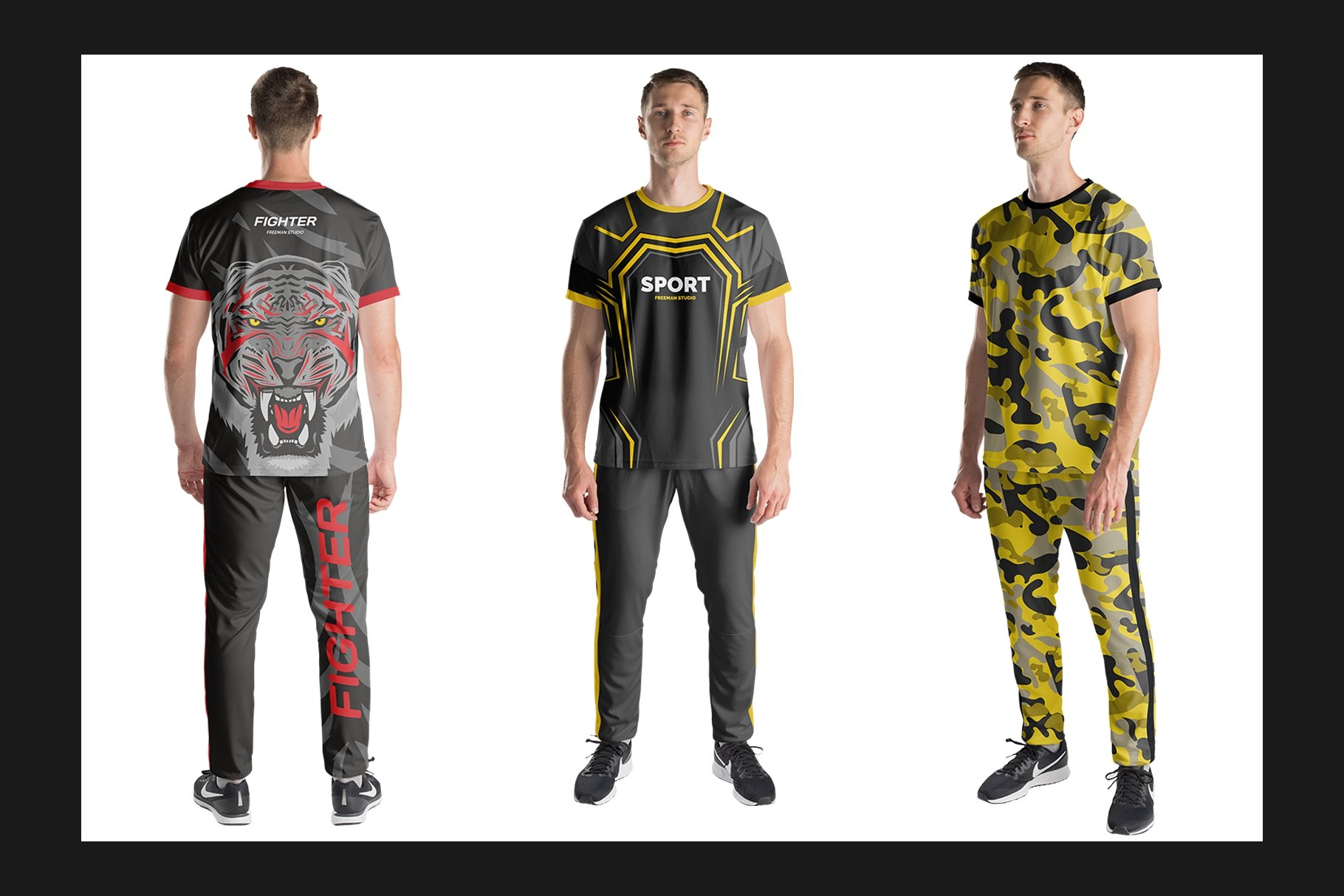 男士运动服饰设计展示样机模板 Sport Apparel Mockup Set插图(5)