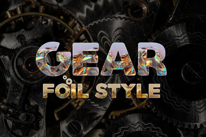 36个铝箔效果标题文字设计PS样式模板 Foil Style Text Effect插图